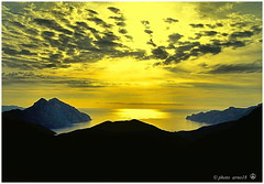 contre-jour (arno18☮) Tags: corse france piana calanches soleil contrejour crepuscule hdr jaune wow sunset water sky nature blue light clouds sea yellow new c artofimages