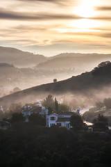 morning fog (aidong_ning) Tags: sunrise morningfog mountains houses