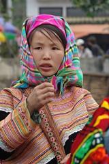 The Flower Hmong women of Bac Ha - thirteen (CharlesFred) Tags: woman mountains beauty female asian women asia dress vietnam dresses hmong bacha flowerhmong