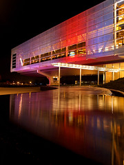 Clinton Library at Christmas