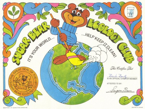 Sugar Bear Ecology Club Certificate