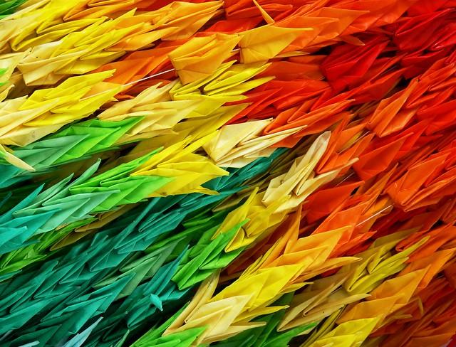 origami peace cranes 171 embroidery amp origami