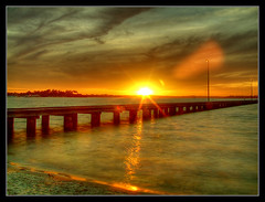 Sunset & Jetty (autumn_leaf) Tags: longexposure sunset cloud como river geotagged jetty perth westernaustralia hdr canningriver geolat31993740819 geolon115854664305 potwkkc17