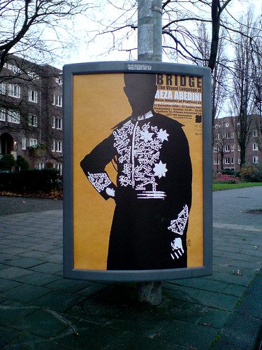 poster in the city of Amsterdam: Reza Abedini