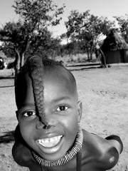 Himba Tribes of Namibia (KraKote est KoKasse.) Tags: africa portrait southafrica namibia sourire himba noirblanc afrique namibie krakote forcont wwwkrakotecom valeriebaeriswyl