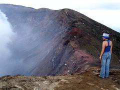 At the volcano's crater (timelapse) Tags: volcano crater edge sulphur elsalvador santaana fumes
