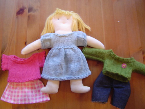 blond doll & outfits