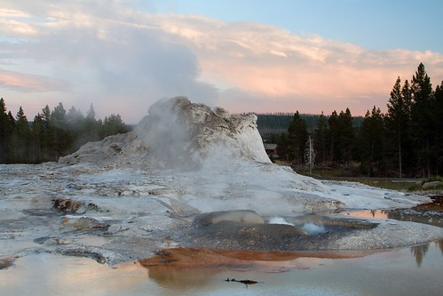 Castle Geyser at Sunset, Take Three