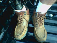 You got to get dirty (Kevin McK) Tags: foot bionic boots leg cyborg amputee prosthetic
