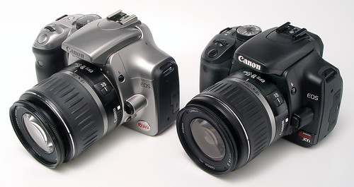 Canon's old and new digital rebels (300D and 400D)