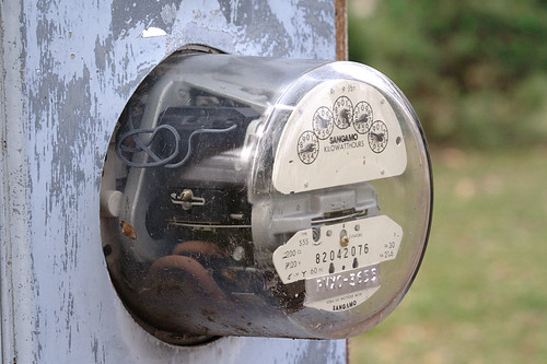"electric meter posted on Flickr Creative Commons by ""Beige Alert"""