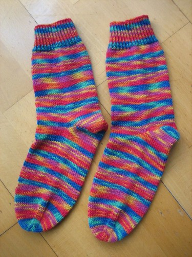 Mireia's socks, finished