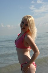 Connie beach8 (speedwaygirl81) Tags: pink ohio lake beach lakeerie pale bikini blonde pinkbikini