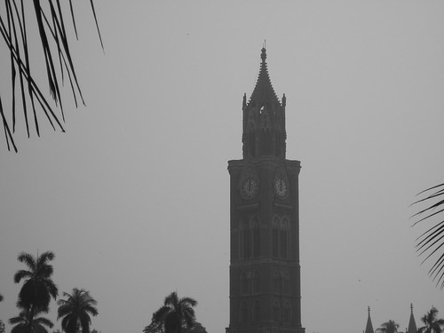 Rajabai clock tower - Mumbai in Black and White