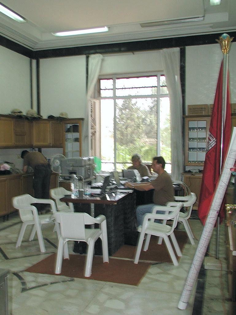 "Ambassador Bodine's ""Kitchen"" - Republican Palace - Baghdad - 14 May 2003"
