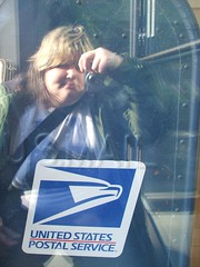 Mailing Myself to You (Bekah Stargazing) Tags: camera blue light selfportrait reflection me window mailbox mail postal usps
