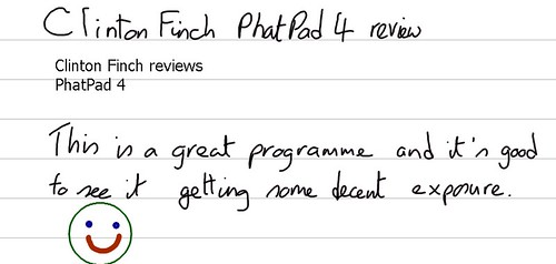 Clinton Finch reviews PhatPad 4