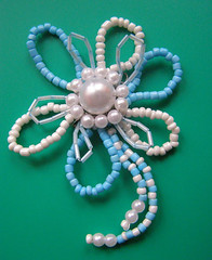 brooch Flower (lacantadora Swetlana) Tags: beads hand handmade crafts brooch jewelry made