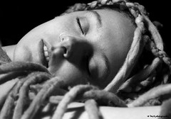 so calm and beautiful (Mike Wood Photography) Tags: bw woman girl beautiful face dreadlocks eos 350d dof peaceful calm corey arr serene nosering dreads sleepin allrightsreserved closedeyes dreds mikewood w4b mwblog w4bphotography mikewood mikewoodphotographycom mikewoodphotography
