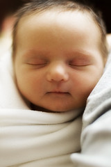 Alice (kipzilla) Tags: seattle sleeping portrait baby girl angel 50mm prime still nikon infant alice innocent d70s peaceful portraiture newborn rest f18 manualfocus swaddle strobist kipbeelman