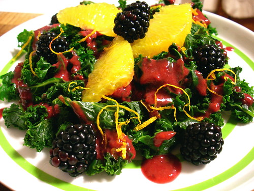 Blackberry Salad With Blackberry Vinaigrette Recipe — Dishmaps