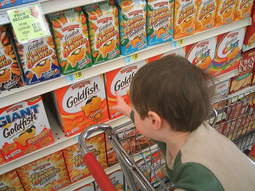He wants goldfish