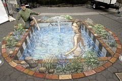 Aveeno1 (pavementpicasso) Tags: nyc ny newyork swimming unionsquare fountainofyouth skincare julianbeever aveeno pavementpicasso