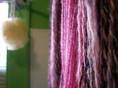 handspun, hanging to dry