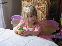 Fairy eating cupcake
