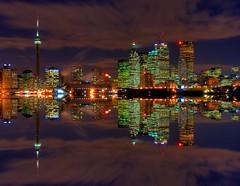 Tonight? (~EvidencE~) Tags: longexposure toronto reflection skyline mirror nikon bravo flickr downtown cntower top skylines 20 lakeontario evidence supershot toronto d80 torontoskylinenight top20flickrskylines 2007