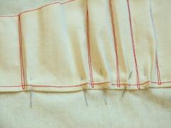 pinning tucks