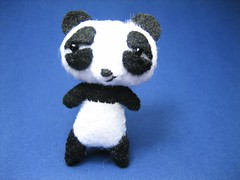 """good"" panda (ccyytt) Tags: cute panda handmade craft mini sew felt softie kawaii 5cm sa2face"
