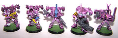 Slaaneshi Renegade Squad (picsasso) Tags: game miniatures marine chaos hand citadel space painted games 40k workshop handpainted warhammer piece lead renegade 40000 gamesworkshop spacemarine slaanesh chaosspacemarine slanesh