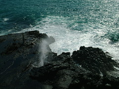 Hawaiian Coast  Lava Blowhole (Doug Langham) Tags: hawaii oahu pacificocean blowhole fujifinepixs7000 costalview