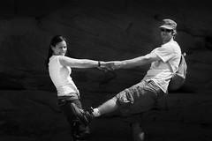 Black&White Dance (Jeremiah Barber Photography) Tags: white black dancing moab