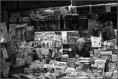 Paperstand (OskarOm) Tags: blackandwhite bw italy milan streets milano