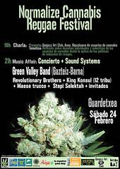 NORMALIZE CANNABIS REGGAE FESTIVAL/Guardetxe 2...