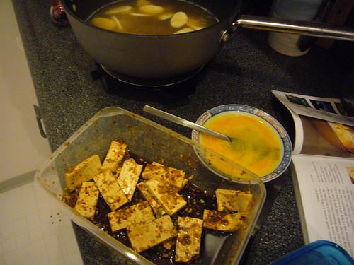 tofu for ddok guk