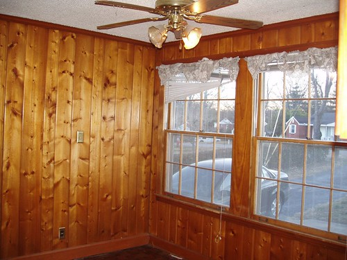 den - paneling to be painted
