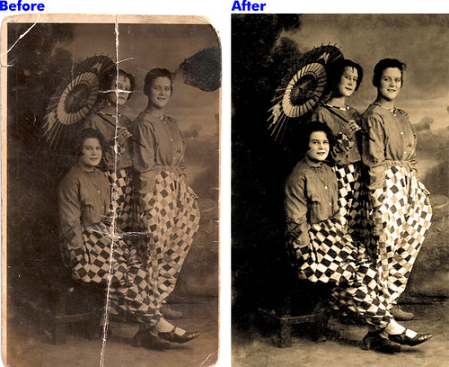 Photo Restoration - Damage Repair