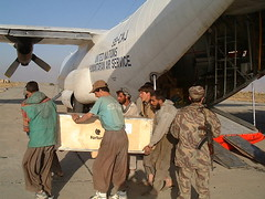 Offloading the C130 earlier that day.