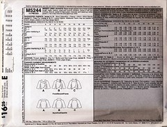 McCall's cropped jacket 5244 (back) (carbonated) Tags: sewing patterns mccalls