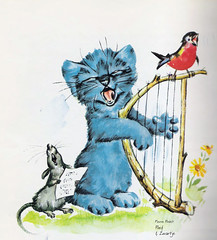 Puff the blue kitten (mion.nl) Tags: illustration book illustrations childrenbooks pierreprobst poefenzwartje puffandinky childrenillustrations copyrightmionnl mionnl