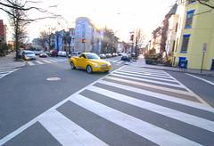 Yellow Car (Oblivious Dude) Tags: yellow dc tokina1224 crosswalk dupontcircle