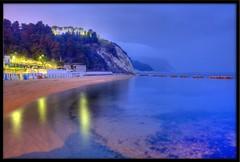 blue (otrocalpe) Tags: night porto sec numana hdr 60 marche sirolo