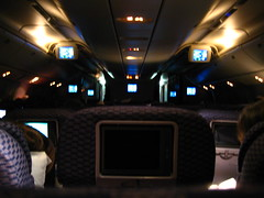 B777 cabin at night