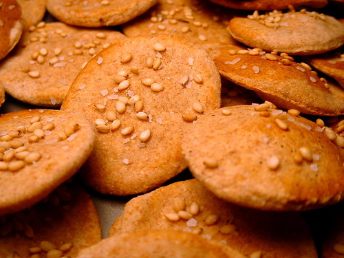 Whole wheat cumin seed crackers