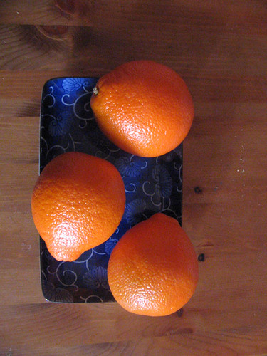 blue & oranges
