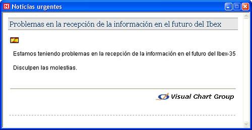 Problemas operativa en Ibex35 2007feb28 15h03m