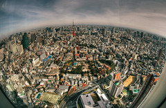 Tokyo from the 52th floor (The Other Martin Tenbones) Tags: city japan tokyo cityscape earth fisheye jc 日本 roppongi 東京 hdr 52 六本木 400d